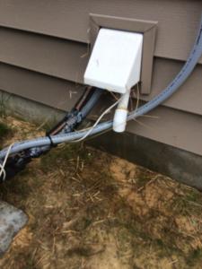 a/c condensate drain line