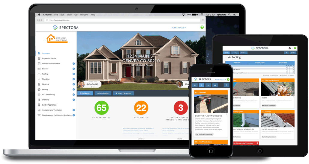 Modern Home Inspection Reports by Spectora & The Dwelling Inspector