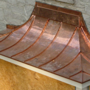Custom Copper Roof On Bay Window