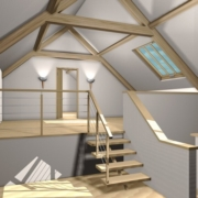 Finished Attic Loft Space