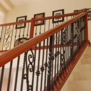 Wood and Metal Stair Railing